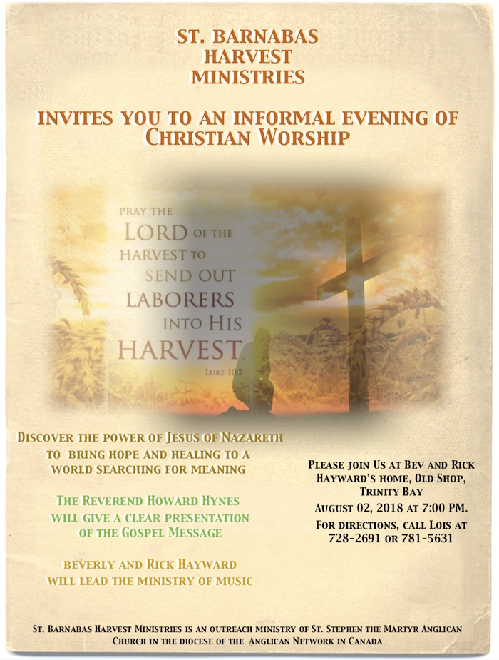 St. Barnabas Harvest Ministries Launch a New Ministry
